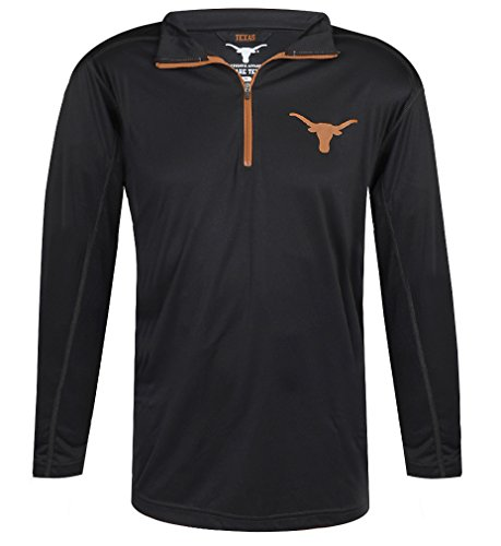 NCAA Texas Longhorns Lightweight 1/4 Zip Mens Pullover - Longhorns Texas Light