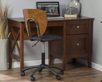 Mesa de escritorio, mesa de estudio, madera, cerezo: Amazon.es ...
