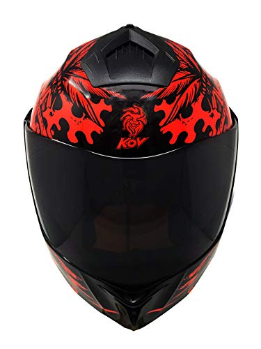 Casco Moto Accesorio Abatible Zapata Rojo KOV DOT (XXL)