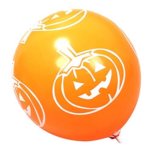 Pausseo Halloween Horror Party Blood Splatter & Handprint Balloons Bloody Print Indoor/Outdoor Party Toy Kids Gift Kit Home Decor Combination Scene Arrangement Room Decor - 12 inches (Pumpkin Orange)