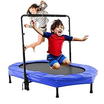 Image of Binxin Mini Rebounder Trampoline Indoor/Outdoor with Adjustable Handle for Two Kids, Parent-Child Twins Trampolines (US Stock) Fitness Trampolines