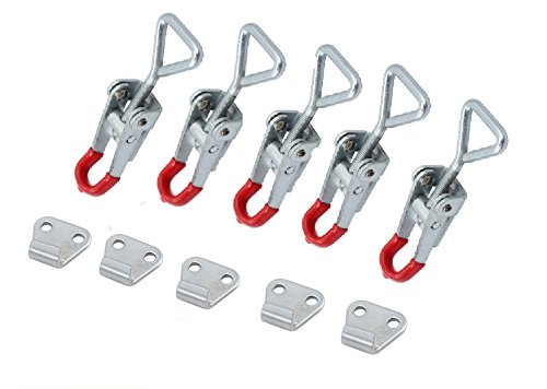 5 pieces Latch Catch Pull Drawer Tool Box Chest Locking Metal Toggle Lock Clip - Garden Spring Drawer Chest 5