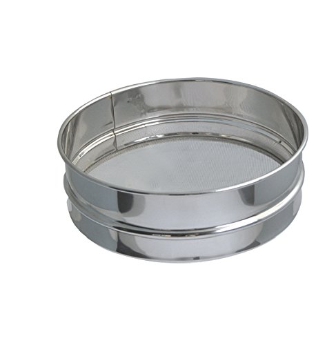 De Buyer 4604.21 Stainless Steel Flour Sieve with Stainless Steel Mesh, 21 cm Diameter 460421