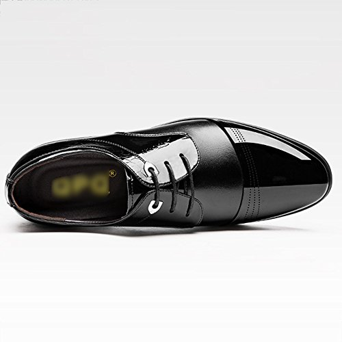 Office Oxford à Uniform Casual Chaussures En Pointu Derby Black Cuir Bout Chaussures Chaussures Party Business De Lacets Mens Mariage OqB4W