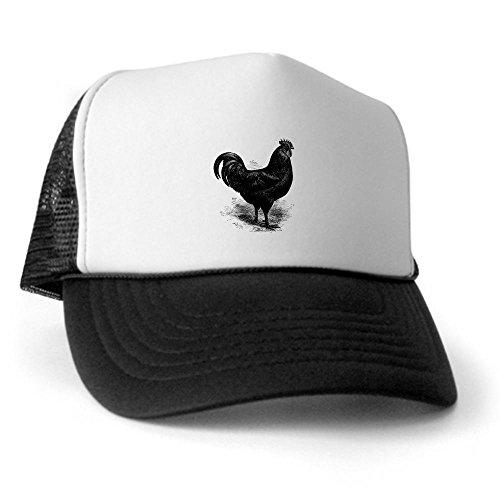 CafePress - Black Java chicken rooster Trucker Hat - Trucker Hat, Classic Baseball Hat, Unique Trucker (Chicken Hats)