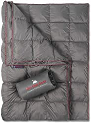 Get Out Gear Double Puffy Camping Blanket - Extra Puffy, Packable, Lightweight and Warm | Ideal for Outdoors,