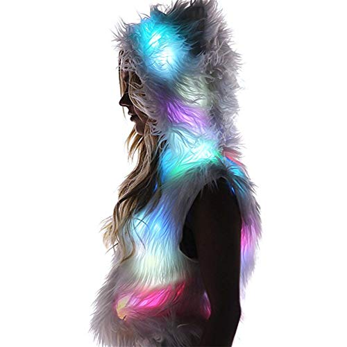 Capi Signorina Abbigliamento Flash Cosplay A Led Festa Halloween Di Performance Da Gala Abito Donne Femmina Bianca Sera Luce Natale EqXBF