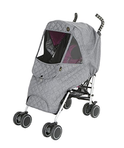 Weathershield Quilted Baby Stroller Cover for Rain + Snow + Wind, Type M