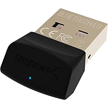 Sabrent USB Bluetooth 4.0 Micro Adapter for PC [v4.0 Class 2 with Low Energy Technology] (BT-UB40)