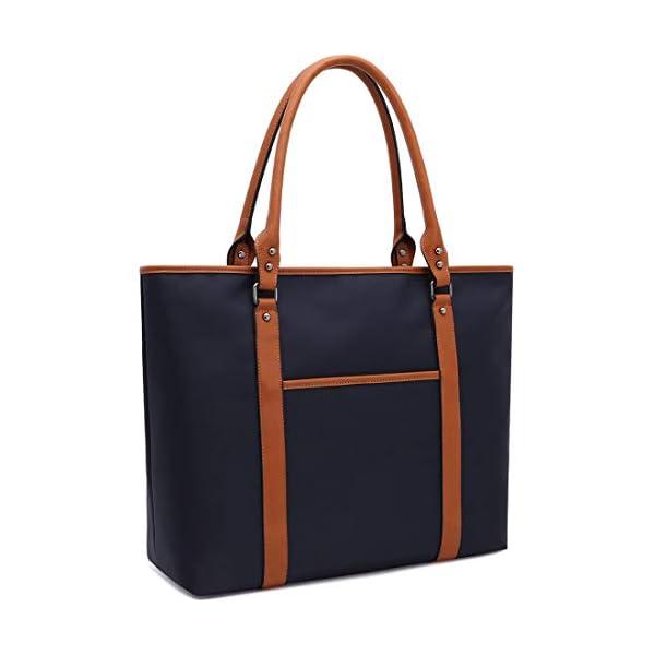 Laptop-Bag-Laptop-Tote-Bag-Water-Resistant-Nylon-Work-Bag-Briefcase-Computer-Shoulder-Bag-for-Women-15-156-Inch-TabletUltra-BookMacBookChromebook