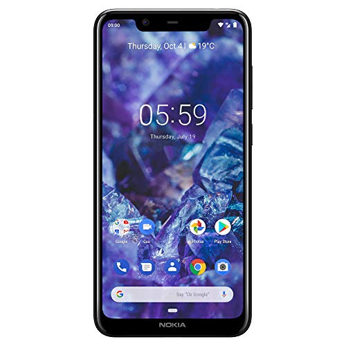 Nokia Mobile Nokia 5.1 Plus - Android 9.0 Pie - 32 GB - Dual Camera - Dual Sim Unlocked Smartphone (AT&T/T-Mobile/Metropcs/Cricket/Mint) - 5.86' 19: 9 HD+ Screen - Black