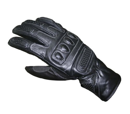 Leather Biker Motorbike Motorcycle Waterproof Racing Riding Gloves Medium