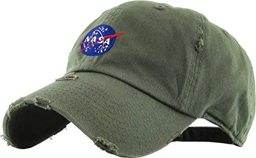 KBSV-044 OLV Spaceship Vintage Dad Hat Baseball Cap Polo Style Adjustable