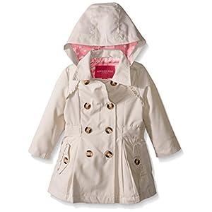 London Fog Baby Girls' Lightweight Trench Coat, Khaki, 24 Months