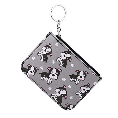 Mini Keychain Coin Purse Cute Cartoon Wallets Bags Card Bags Changes Bag Gray