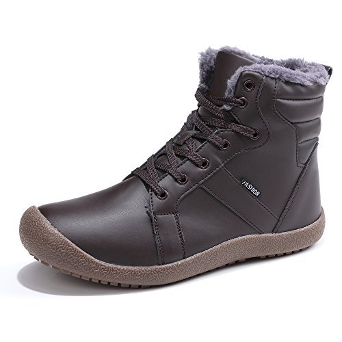 Ankle Waterproof Brown Leather Schuhchan Warm Mens 05 Boots Winter Snow Boots ZH640q6a