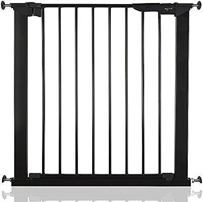 BabyDan Premier - Bebé Puerta de la Escalera Barrera de Seguridad Negro, 73,5 - 79,6cm: Amazon.es: Bebé