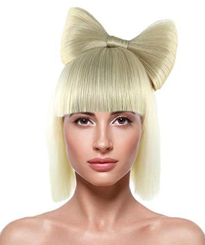 HalloweenPartyOnline Gaga Blonde Bow Wig HW-1826 -
