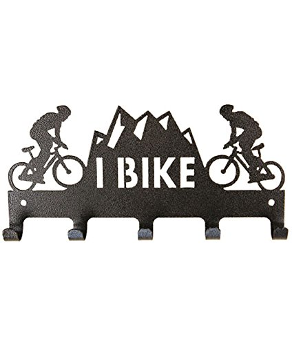 10 inch 5 hook I Bike Charcoal Medal Holder by Show Ur Passion