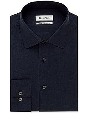 Calvin Klein Medieval Blue Stripe Dress Shirt Men's Size 16.5, 32/33!