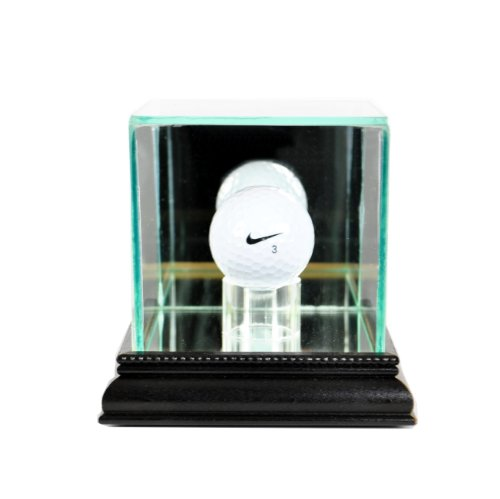 Perfect Cases PGA Golf Ball Glass Display Case, Black