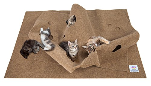 SnugglyCat The Ripple Rug - Made in USA - Cat Activity Play Mat - Thermal Base -Fun Interactive Play - Training - Scratching - Bed Mat