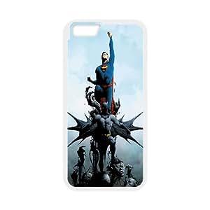 Batman And Superman Comic iPhone 6 Plus 5.5 Inch Cell Phone Case White Exquisite designs Phone Case KMJ41842