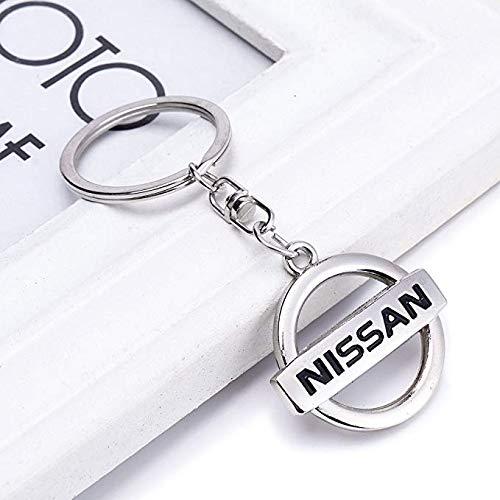 Chrome Metal Key (Fashion Silver Metal Chrome Finish Car Logo Emblem Keychain for Key Rings, Lanyards, Backpacks (Nissan))