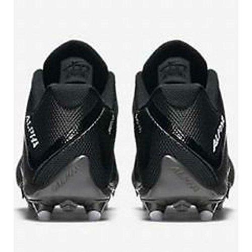 Nike Herren Alpha Pro 2 Fußballschuh Schwarz / Weiß-Mtlc Dunkelgrau