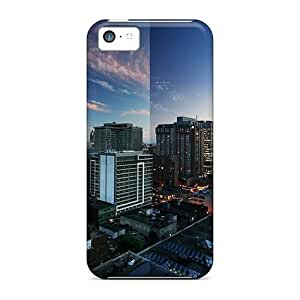 LJF phone case Mialisabblake Design High Quality Toronto Reflections Cover Case With Excellent Style For iphone 4/4s