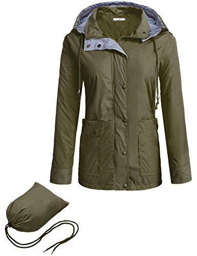 - Hufcor Women's Mid Long Belted Raincoat Jackets
