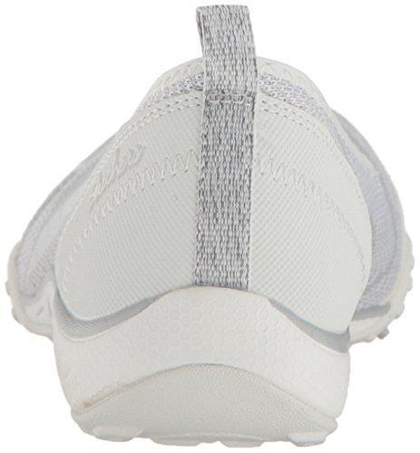 Skechers Sport Womens Womens Breathe Easy Symphony Fashion Sneaker White Light Grey