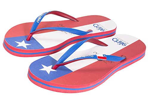 Samba Sol Hommes Collection Drapeau Flip Flops - À La Mode Et Confortable. Sandales À La Mode Et Classiques Pour Hommes. Chili