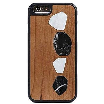 WOLA Carcasa marmol para iPhone 6 / 6s Terra Funda de Madera ...