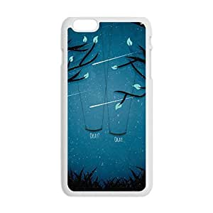 Cool Painting Artistic moon meteor showers and swings Cell Phone Case for Iphone 6 Plus