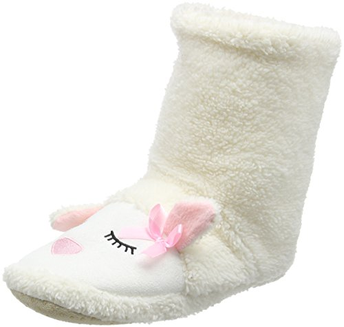 Eaze Blanc white Lamb Chaussons Montants Femme White Boot OSxvOwqU4