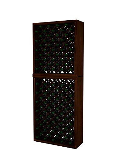 Individual Diamond Rack (Vintner Series Wine Rack - Individual Diamond Bin - 7 Ft - Mahogany with Dark Walnut)
