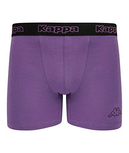 Kappa - Herren Boxershorts 2-Pack - schwarz / Neon Lila, X-Large