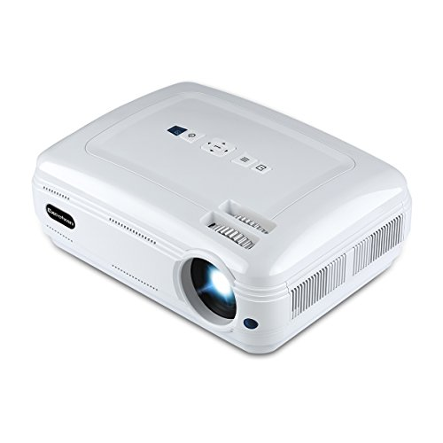 Excelvan BL-58 Projector 3200Lumens 1280X768 HD Native Resolution Multimedia Video Projector Support 1080P TV Red&Blue 3D HDMI USB VGA AV Interfaces for Home Theater Outdoor Movie Game