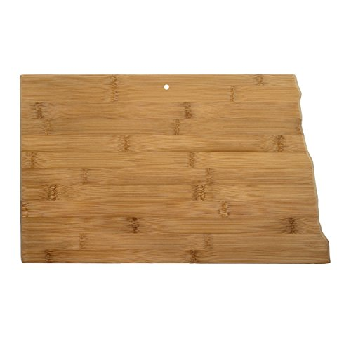 Totally Bamboo North Dakota State Shaped Bamboo Serving and Cutting Board