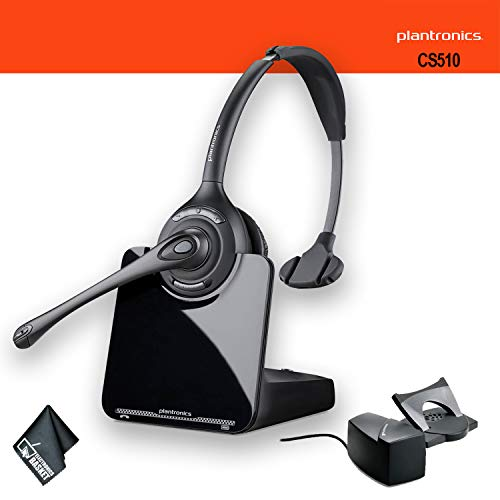 Plantronics CS510 Wireless Headset System Bundle + HL10 Handset Lifter