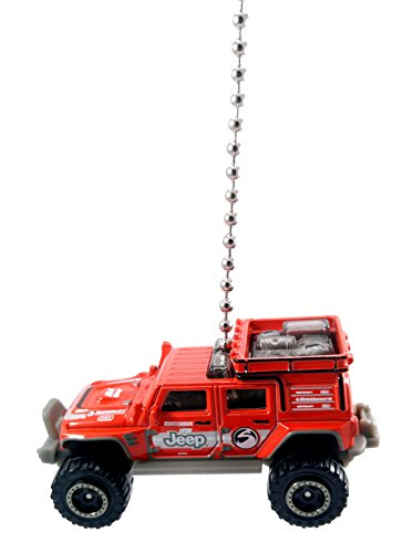 Superlift Jeep - Matchbox Jeep Wrangler Ceiling Fan Light Pulls 1/64 (Jeep Wrangler Superlift Red)