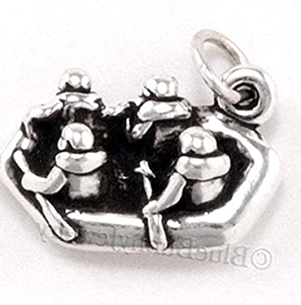Amazon com: White Water Rafting Charm Pendant raft Boat Sterling