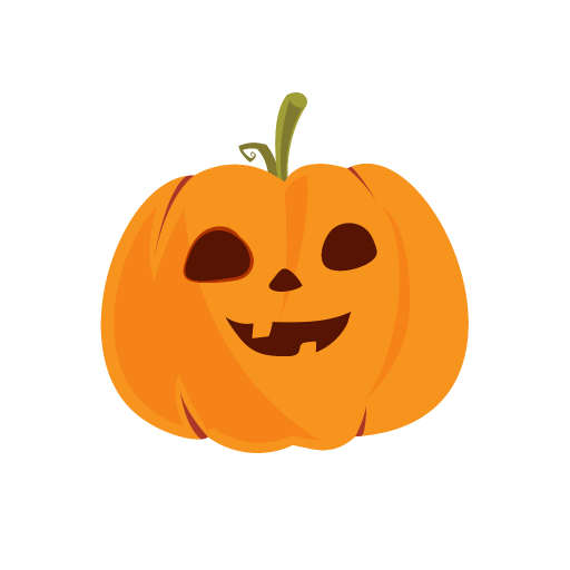 Halloween Pumpkin Scary Emoji Spooky Stickers]()