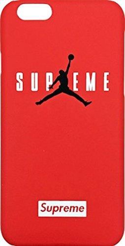 "Supreme x Jordan Red ""Jumpman"" Hard Plastic iPhone 6/6s + Plus Case"