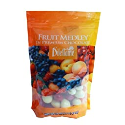 Chocolate Covered Fruit Medley Dragées - 24oz Pouch - by Dilettante (2 Pack)