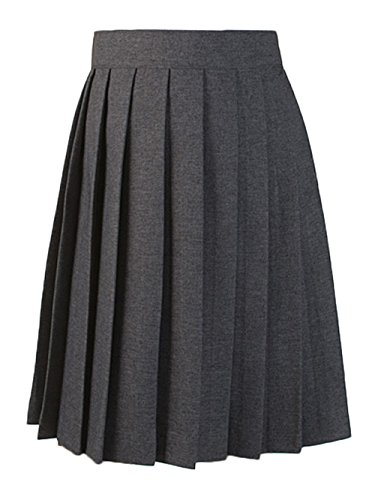 French Toast Pleated Skirt - Gray,