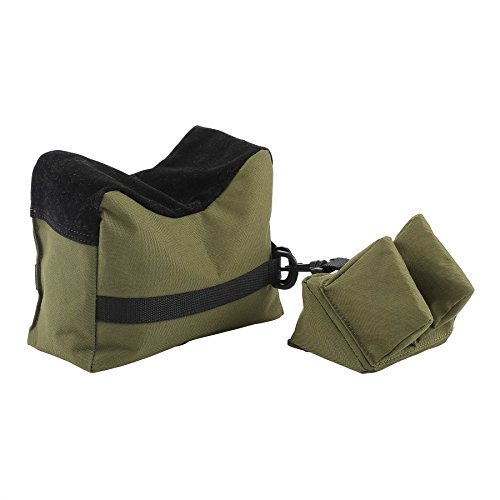 HIRAM Front Rear SandBag Shooting Rest Support Bags Stand Holders for Rifle (Green)