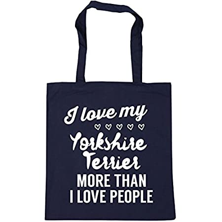 HippoWarehouse I love my yorkshire terrier more than I love people Tote Shopping Gym Beach Bag 42cm x38cm, 10 litres 41c6JAB6LtL
