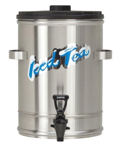 Wilbur Curtis Iced Tea Dispenser 3.0 Gallon Tea Dispenser, Stackable - Designed to Preserve Flavor - TC3S (Each) - Handles Iced Tea Dispenser
